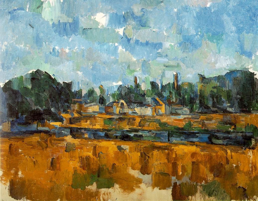 Paul Cézanne. Marges de um rio. 1906. Óleo sobre tela, 65x81 cm. Coleção particular, Suíça.
