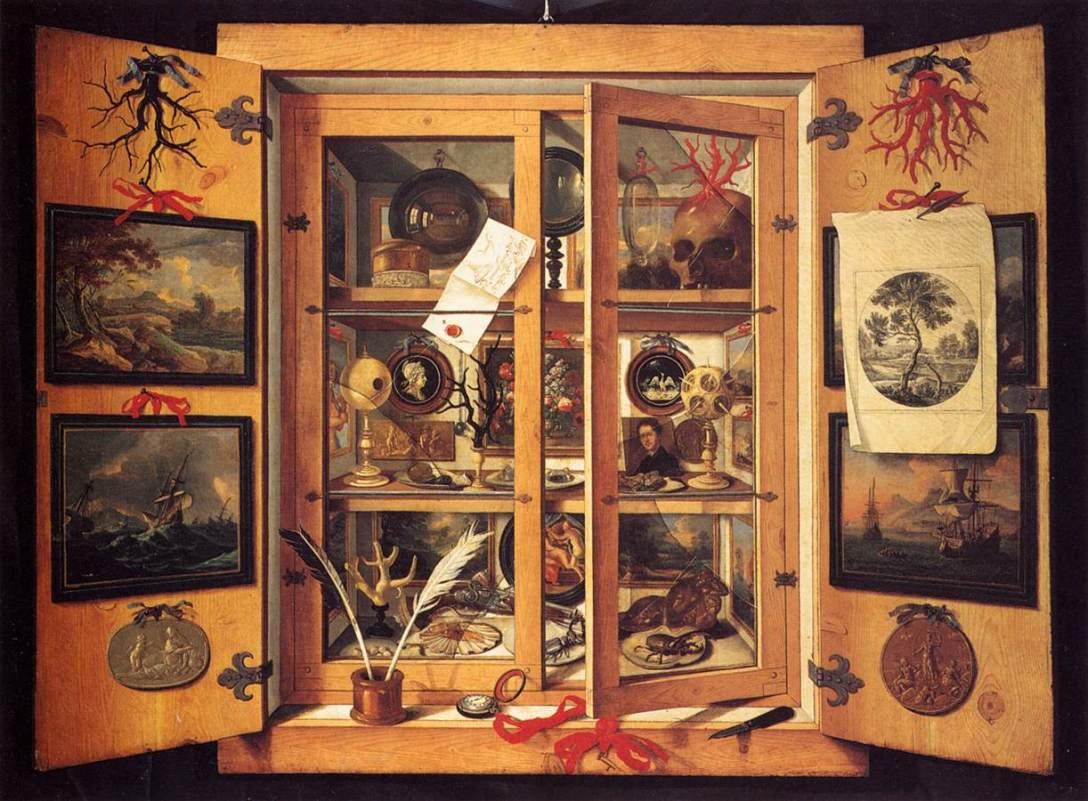 Domenico Remps. Gabinete de curiosidades, c. 1690.